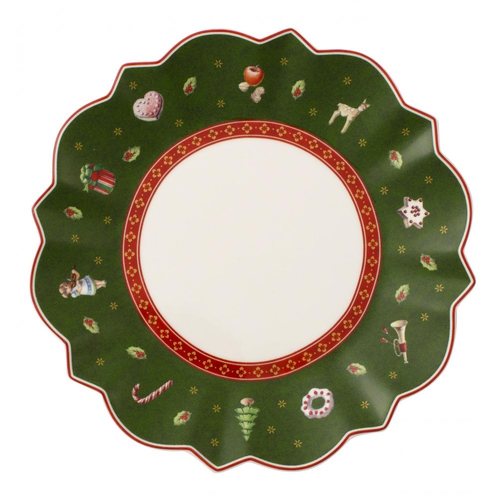 크리스마스 토이딜라이트 브레드&버터접시17cm그린